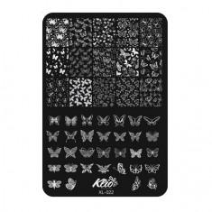 Klio Professional, Пластина для стемпинга №022
