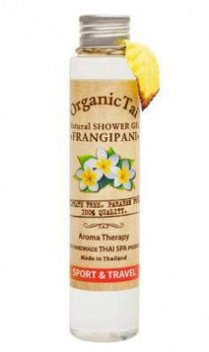Гель для душа безсульфатный с экстрактом франжипани ORGANIC TAI Natural Shower Gel Frangipani 100 мл