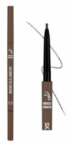 Карандаш для бровей Holika Holika Wonder Drawing Skinny Eye Brow 06 шоколадно-коричневый 0,5 г