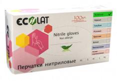 ECOLAT Перчатки нитриловые, зеленые, размер S / Green EcoLat 100 шт