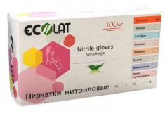 ECOLAT Перчатки нитриловые, красные, размер M / Red EcoLat 100 шт
