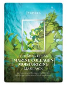 Набор тканевых масок с морским коллагеном DEOPROCE BLOOMING MARINE COLLAGEN MOISTURIZING MASK PACK 25г*5
