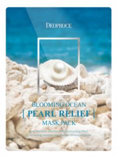 Набор тканевых масок DEOPROCE BLOOMING PEARL RELIEF MASK PACK 25г*5