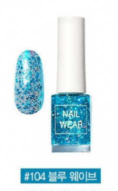 Лак для ногтей THE SAEM Nail wear #104. Blue Wave