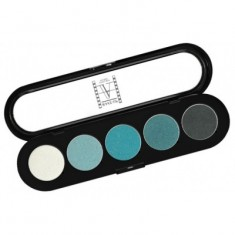Палитра теней, 5 цветов Make-Up Atelier Paris T11 сине-зеленые тона