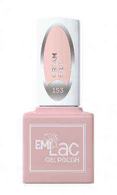 E.MI 153 WEC гель-лак для ногтей, Кремовый шелк / E.MiLac 6 мл