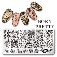 Born Pretty, Пластина для стемпинга №043