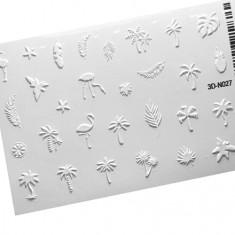 AnnaTkacheva,3D-стикер№027,белый «Лето. Пальмы» Anna Tkacheva