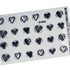 AnnaTkacheva,3D-стикер№032,черный «Сердце. Любовь» Anna Tkacheva