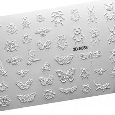 AnnaTkacheva,3D-стикер№038,белый «Насекомые. Бабочки» Anna Tkacheva
