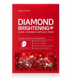 Маска тканевая осветляющая SOME BY MI Diamond Brightening Calming Glow Luminous Ampoule Mask 25г