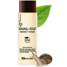 тонер для лица с экстрактом улитки и egf secret skin snail + egf perfect toner