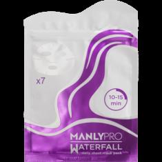 Маски освежающие для увлажнения кожи лица Manly PRO WM7 Водопад \ Waterfall 7 шт