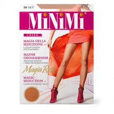 Колготки женские MINIMI MAGIA RETE с эффектом мелкой сеточки тон Caramello р-р 3