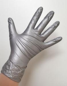 SAFE & CARE Перчатки нитриловые серебристые L Safe & Care 100 шт