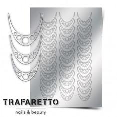 Trafaretto, Металлизированные наклейки CL-05, серебро