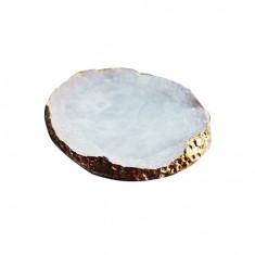 Masura, Палета для дизайна ногтей «Золотой срез агата», белая