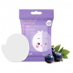 мицеллярные диски для снятия стойкого макияжа с глаз и губ frudia lip & eye point remover