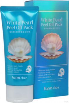 Маска-пленка очищающая с экстрактом жемчуга FarmStay White Pearl Peel Off Pack 100г