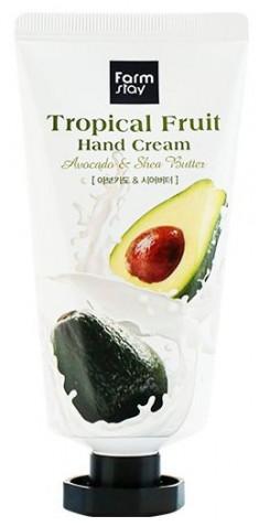 FARMSTAY Крем для рук Тропические фрукты, с авокадо и маслом ши 50 мл