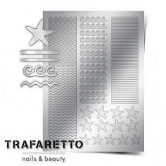 Trafaretto, Металлизированные наклейки Sea-03, серебро