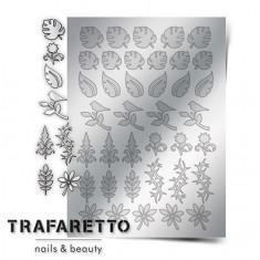 Trafaretto, Металлизированные наклейки FL-02, серебро