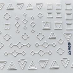 Anna Tkacheva, 3D-стикер №039 «Геометрия. Фигуры», белый
