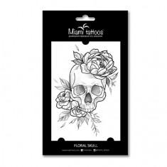 Miami Tattoos, Переводные тату Floral Skull