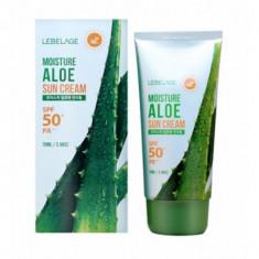 солнцезащитный увлажняющий крем с экстрактом алоэ lebelage moisture aloe sun cream spf50+ pa+++