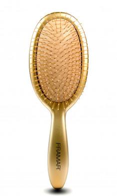 FRAMAR Щетка распутывающая для волос Золото / Metalling Detangle Brush - Gold