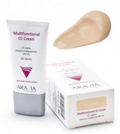 CC-крем защитный SPF20 Aravia professional Multifunctional CC Cream Vanilla 01 50мл