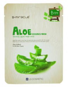 Маска для лица с экстрактом алоэ LS Cosmetic S+miracle Aloe Essence Mask 30 г