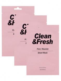 Набор тканевых масок для питания и укрепления кожи EUNYUL CLEAN & FRESH FIRM-NOURISH SHEET MASK 22мл*3