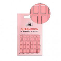 E.Mi, 3D-стикеры Charmicon №112 «Квадраты серебро»