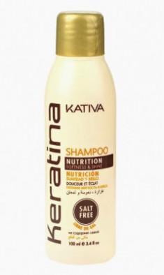 Укрепляющий шампунь с кератином для всех типов волоc Kativa KERATINA 50 мл