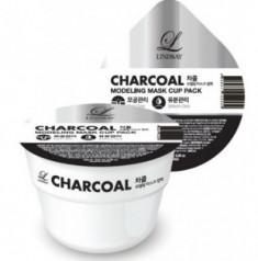Альгинатная маска с углем LINDSAY Charcoal modeling mask cup pack 28 гр