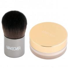 Makeover, рассыпчатая пудра с кисточкой кабуки, ivory silk, 12 г