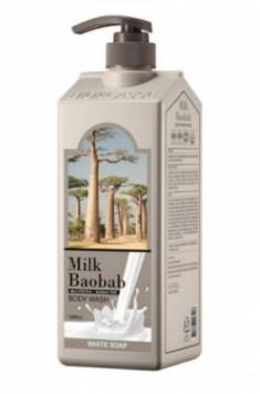 Гель для душа с белым мылом Milk Baobab Original Body Wash White Soap 1000мл