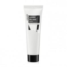 увлажняющий и питательный крем с керамидами coxir ceramide milk drop cream