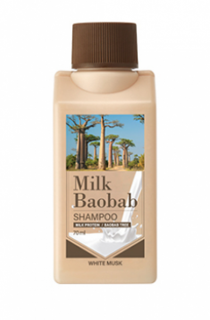 Шампунь с белым мускусом Milk Baobab Shampoo White Musk Travel Edition 70мл