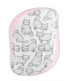 TANGLE TEEZER Расческа для волос / Compact Styler Skinny Dip Relaxed Cat