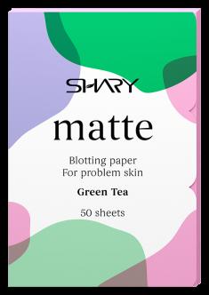 SHARY Салфетки матирующие для проблемной кожи Зеленый чай 50 шт