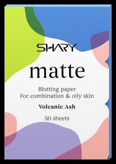 SHARY Салфетки матирующие для комбинированной и жирной кожи Вулканический пепел 50 шт