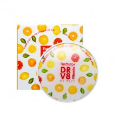 Пудра компактная с витаминами FARMSTAY DR-V8 vitamin UV pact SPF50 № 21 Beige 12мл*2