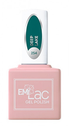 E.MI 254 GL гель-лак для ногтей, Глубокое озеро / E.MiLac 6 мл