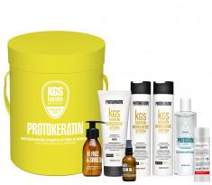 PROTOKERATIN Набор подарочный для волос Восстановление, желтый