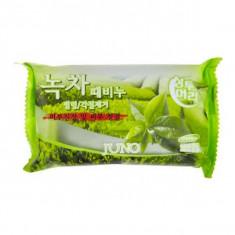 Juno Мыло с отшелушивающим эффектом с зеленым чаем 150гр