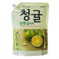 Lion Chamgreen средство для мытья посуды овощей и фруктов Зеленый цитрус 970мл