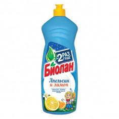 Биолан Жидкость для мытья посуды Апельсин и лимон 900мл БИОЛАН