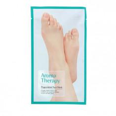 Royal Skin Увлажняющие носочки Aromatherapy peppermint 1пара